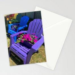 Rainbow Beach Chairs in Ptown Stationery Cards
