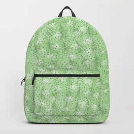 Elegant abstract neo mint feathers polka dots glitter pattern Backpack