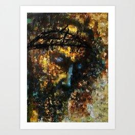 jesus christ abstract painting Art Print