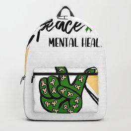 Peace Love Hope Mental Health Awareness Backpack