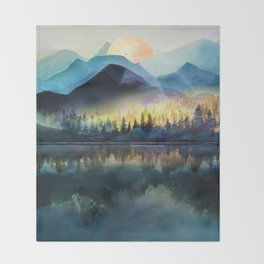 Mountain Lake Under Sunrise Decke