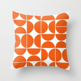 Mid Century Modern Geometric 04 Orange Deko-Kissen