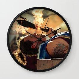 Spitting Fire Wall Clock