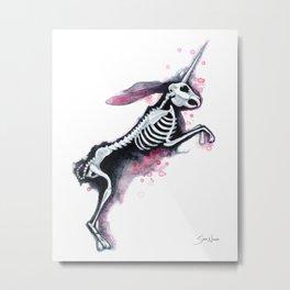 Unicorn Bunny Metal Print
