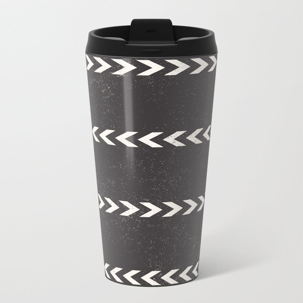 Arrow Stripe Metal Travel Mug by Naylasmith MTM7741651