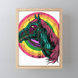 Unicorn Horn Fabled-Beast Horse Fauna Animal Gift  Framed Mini Art Print