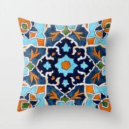 Mediterranean tile Throw Pillow