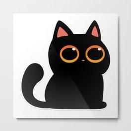 Sticky Cat Metal Print