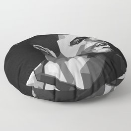 Cristian Pulisic Black and White Floor Pillow