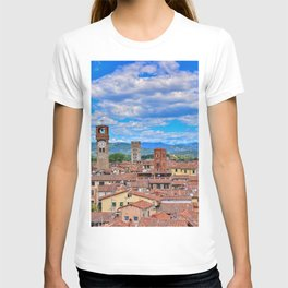 Beautiful medieval town Lucca in Tuscany. T-shirt