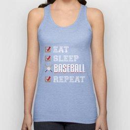 Eat Sleep Baseball Repeat Unisex Tank Top