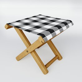 Buffalo Check - black / white Folding Stool