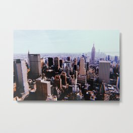 New York City // Retro 2 Metal Print
