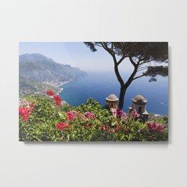 Scenic Vista of the Amalfi Coast at Ravello, Campania, Italy Metal Print