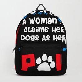 Pawma Definition Design für eine Oma von niedlichen Hunden print Backpack
