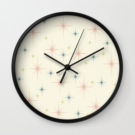 Mid Century Modern Stars Wall Clock