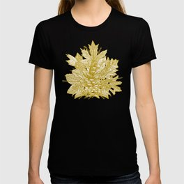 forest floor gold ivory T-shirt