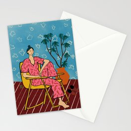 PLANT LADY AT HOME Stationery Cards