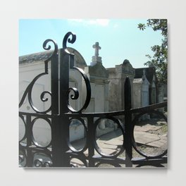Through the Gate Metal Print