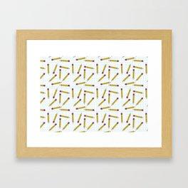 Pencils, Pencils Everywhere! Framed Art Print