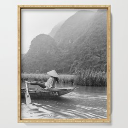 Rowing by feet in Tam Coc | Vietnam | Travel photography | Fine Art | Photo Print |  Serving Tray