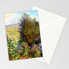 Claude Monet : A Corner of the Garden at Montgeron Stationery Cards