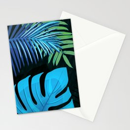 TROPICAL LEAVES & BLACK no3c1 Stationery Cards