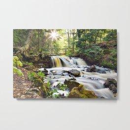 Upper Chapel Falls at Pictured Rocks National Lakeshore - Michigan Metal Print