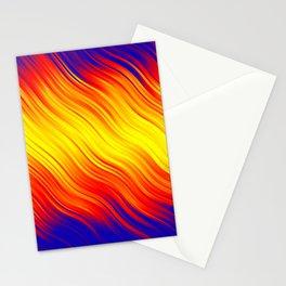 Stripes Wave Pattern 10 bry Stationery Cards