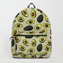 Dancing Millennial Avocados on Beige, Ditsy print Backpack