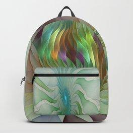 Colorful Shapes, Modern Fractals Art Backpack
