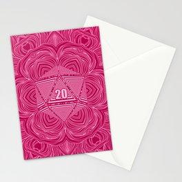 Natural 20 Mandala Seduced by a Bard Stationery Cards