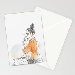 Coffee on balcony Stationery Cards