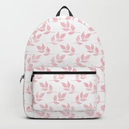 Trendy Rose Gold Glitter Foliage White Design Backpack