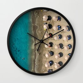 Summertime at Zygi Beach Wall Clock