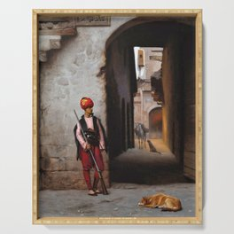 Jean-Leon Gerome - The Guard - Digital Remastered Edition Serving Tray