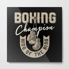 Heavy Boxing Metal Print