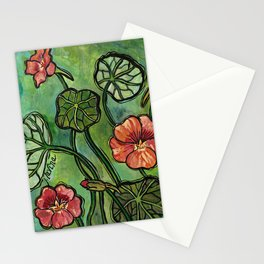 In the Garden ~ Nasturtium Stationery Cards