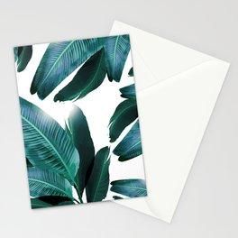 Banana leaf, Tropical palm leaf, banana palm, Flowing palms, blues, turquoise, Hawaii, beach decor Stationery Cards