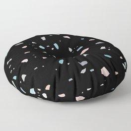 Pastel Black Terrazzo #1 #decor #art #society6 Floor Pillow