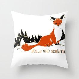 "Belle & Sebastian ""Fox In The Snow"" Throw Pillow"