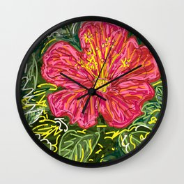New Hibiscus Wall Clock