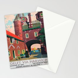 Werbeposter Delft via Harwich Stationery Cards