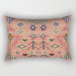 Moroccan Berber Traditional Carpet Rectangular Pillow