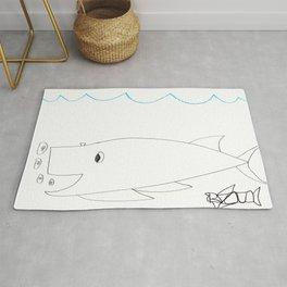 Burping Whale Rug