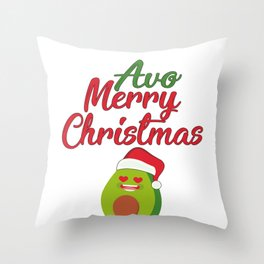 Christms Gift Avo Merry Christmas Avocado Lover Throw Pillow