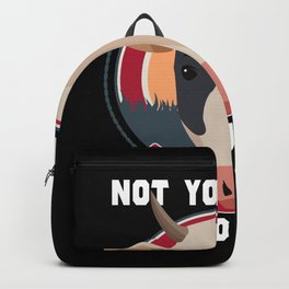 Not Your Mom, Not Your Milk Vegan Backpack