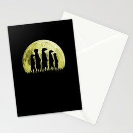 Meerkat Surikate Peloton Moon Stationery Cards