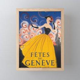 manifesto fetes de geneve femme Framed Mini Art Print