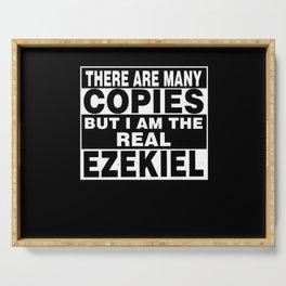 I Am Ezekiel Funny Personal Personalized Fun Serving Tray